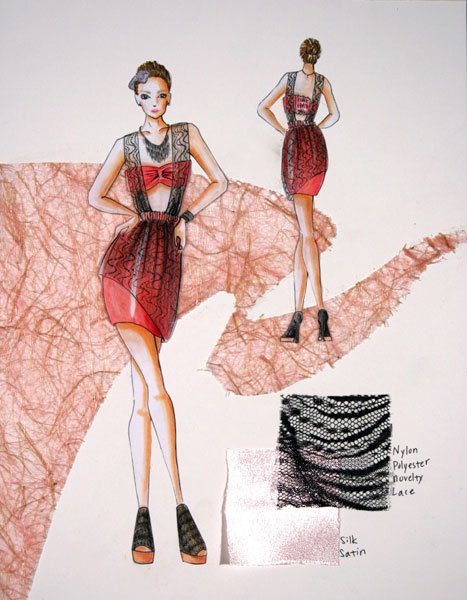 parsons fashion design portfolio examples images free download